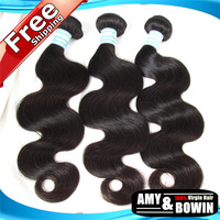 Hot Sale Brazilian Virgin Hair Body Wave  4pcs lot 8''-30''Best Quality Can be Dyed Cheap Brazilian Hair Color 1B