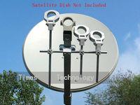 Hot selling!!!5pcs/lot LNB Bracket, LNB holder ,hold up to 4 ku band LNB ,free shipping
