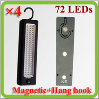 2015 new portable magnetic 72pcs Q5 led inspection lamp work lamp with AA dry battery Lampara Trabajo Camping Led.