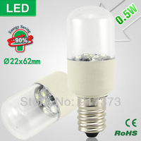 led cabinet light led fridge lamp SMD Lndicator Light Ultra-small Refrigerator Light Bulbs Desk Lamp 0.5W E14