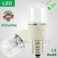 led cabinet light led fridge lamp SMD Lndicator Light Ultra-small Refrigerator Light Bulbs Desk Lamp 0.5W E14