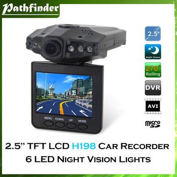 "Model:H198 HD car DVR wide angle 120 degree rotation night vision 2.5""Color LCD 6 IR LED Car DVR Camera Recorder"