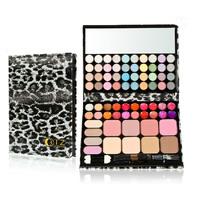 Pro Makeup Palette Set with Eyeshadow Blush Lipgloss Brush 72 colors Full Set