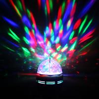 Free shipping  Auto-Rotating 85-260V  E27 3W Colorful Rotating RGB 3 LED Spot Light Bulb Lamp for Chrismas Party