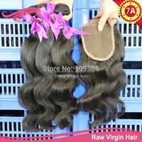 6A brazilian virgin hair bundles with lace closure queen hair brazilian body wave with closure bleached knots free shipping