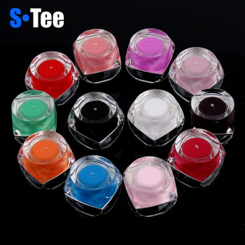 New Arrival +Hot Sale 12 Solid Pure Colors UV Gel Builder 8ml Nail Art Set UV Nail Gel Fit Nail Art Decoration