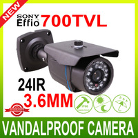 "700TVL 1/3"" Sony Super HAD CCD II  3.6MM 24 LEDs infrared camera Waterproof CCTV Security Camera"