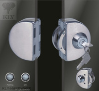 Double glass door lock with keys(one key hole and turning knob),glass clamp lock,gate lock,gate latch