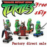 Super heroes 6 pcs/set Minifigures Ninja Turtle/Ninja Toy Star wars DIY Educational Building Blocks High Quality Free Shipping