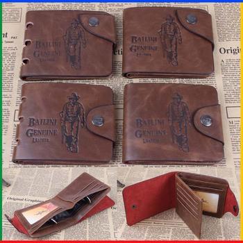 popular Стиль bailini brand vintage hunter print purse leather men wallet with 7 ...