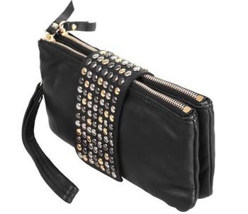 новые приходят Горячие продажи искусственная кожа модельер заклепки сумка женщин ...