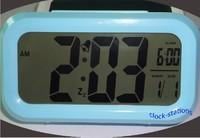 Blue Color Digital LED Calendar Blue Backlight Snooze Clever Alarm Clock Large LCD Display