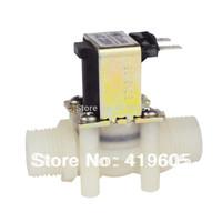 "Free Shipping,big sale zero profit G1/2"" Plastic solenoid valve water valve 12v 24v 220v ,Electronic valve ,have Coil shield ,"