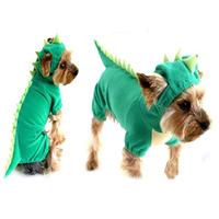 Hot sale dinosaur design pet dog cat costume clothes for Halloween jumpsuit dress coat Free shipping