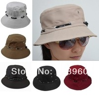 2014 New Fashion fisher cap/men's & women's Bucket Hats/outdoor travel sun hat/fisherman hat cap/8 colors good quality/ATW