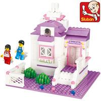 Sluban Building Blocks Pink Dream My Sweet Home Educational Construction Bricks Hot Toy for Girl Compatible Blocks Gift