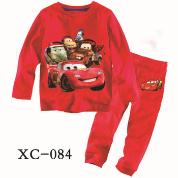Retail,promotion, hot sale, new 2013 cars boy pajama red summer children clothing set