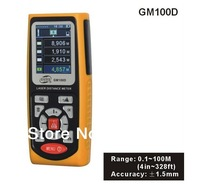 Free Shipping NEW GM100D Photoelectric Laser Distance Meter Volume Tester 100m Range Finder