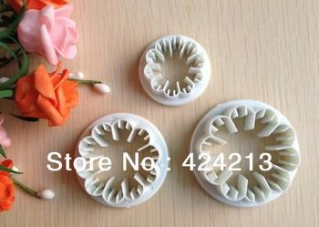Free shipping 3PCS carnation shape mold sugar Arts set Fondant Cake tools/cookie cutters
