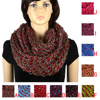 circle scarf infinity_scarf for winter,loop scarf,total 10colors,NL-2055