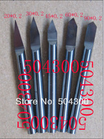 5 pcs/set CNC engraving bits 3.175 mm edge diameter 0.2 mm from 20 degree to 90 degree for metal and PCB engraving