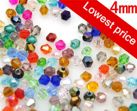 100pcs 4mm Bicone 5301 Austria Crystal Beads Loose Beads Jewelry Making free shipping NO.19-36