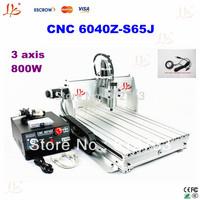 New arrival 3 axis numerical control cnc machine cnc engraving machine 6040Z-S65J, milling machine, mini lathe, 6040 cnc machine
