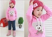 Cute bear baby coat Casual boys hoody/ baby hoodie children Sweatshirts wholesale