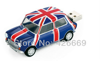 Mini Cooper Car Shape USB Flash Disk Drive 2GB 4GB 8GB 16GB 32GB 64GB Free Shipping
