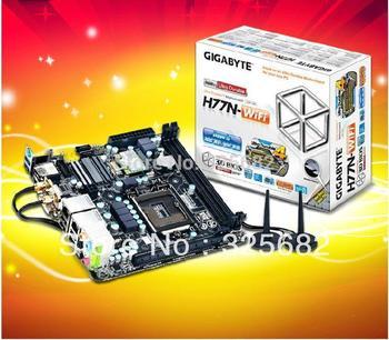 Computer PC Motherboards Gigabyte H77N-WIFI Mini LGA1155 USB3.0 DVI+HDMI Free shipping