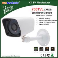 "Free shipping 1/4"" Color Night Vision Indoor/Outdoor security CMOS 700tvl  IR CCTV Camera bracket built-in"
