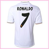 hot salereal madrid 7# RONALDO home soccer jersey 2013 2014 Best thai quality youth short shirt football uniform free shipping