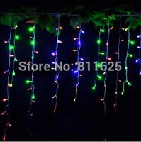 EU /AU Plug 3.5M 96 LED Icicle Christmas Holiday Light   9.4ft LED Snowing curtain light
