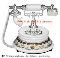 European Antique Phone / White Vintage Home Telefon