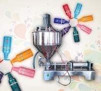 with mixing machine 50-100ml single head automatic pneumatic liquid paste filling machine for cream shampoo