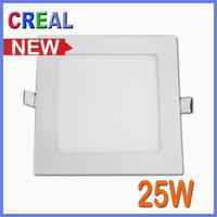 Ultra thin 25W Square LED panel flat down lights White 2450lm  luminaria ceiling panel lamp AC85-265v