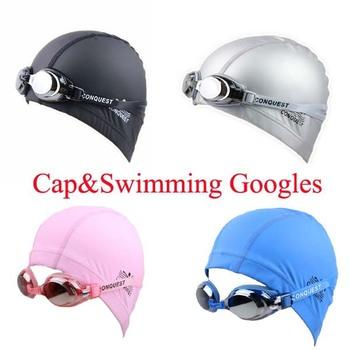 New Top quality Swimming Goggles + Cap Women Men Eyewear Anti-Fog UV protected Waterproof Adjustable Couple Swim Glasses