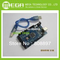 Free shjpping with tracking NO.  1Set /lot  Mega2560    Mega2560 R3  1pcs ATmega2560-16AU Board + 1pcs USB Cable  mega 2560