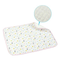 Baby Changing Pads Covers 100% Cotton and TPU Waterproof Nappy Diaper Ultra Large Waterproof Urine Mats  Free Shipping