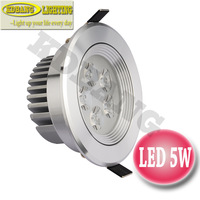 2pcs/lot High quality 5W led downlights AC85-265V Taiwan Epistar acrylic lens 2 years warranty