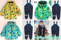 2014 Germany Lupilu Brand Children's Raincoat Rain Pants Overalls Windproof Waterproof Suit for Children free Shipping In Stock