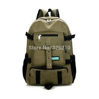 Men Backpack Canvas bag backpack student bag travel bag canvas backpack men's shoulder bags multi-purpose backpack