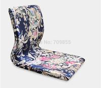 (6pcs/lot )Japanese Furniture Online For Living Room Blue Pattern Comfort Backrest Floor Zaisu Legless Tatami Meditation Chairs