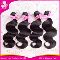 queen hair products peruvian hair weave bundles, peruvian body wave 1pc\lot,free shipping cheap human hair weave wavy very soft