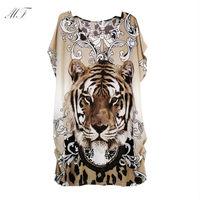 Free shipping New 2014 women t-shirt xxxl Plus Size women clothing T Shirt big size 3d animal print t-shirts