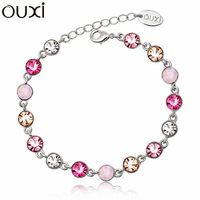 Made With Verified Swarovski Elements Crystal BLA004 Fashion Cute Ball Bracelet  Thick 18K/White Gold Plated Free Shipping