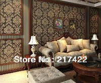 New European Style PVC Wallpapers for Living Room TV Background Sofa and Corridor Decor