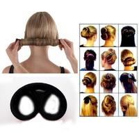 Black /Brown/ Leopard/ Beige French hair roller involucres head balls disk headband Black Brown Leopard Color