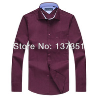 Brand Cotton camisa shirts, Mens Slim fit Unique neckline stylish Broadcloth long Sleeve Shirts,men dress shirts,Casual Shirts