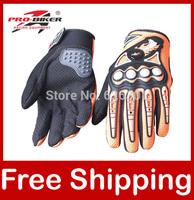 Moto Racing Gloves Motorcycle Motorbike Motocross Motor Riding Gloves Pro-biker Black/Red/Blue/Orange MCS-23